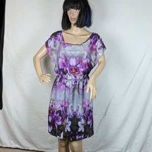 Express Purple Floral Dress